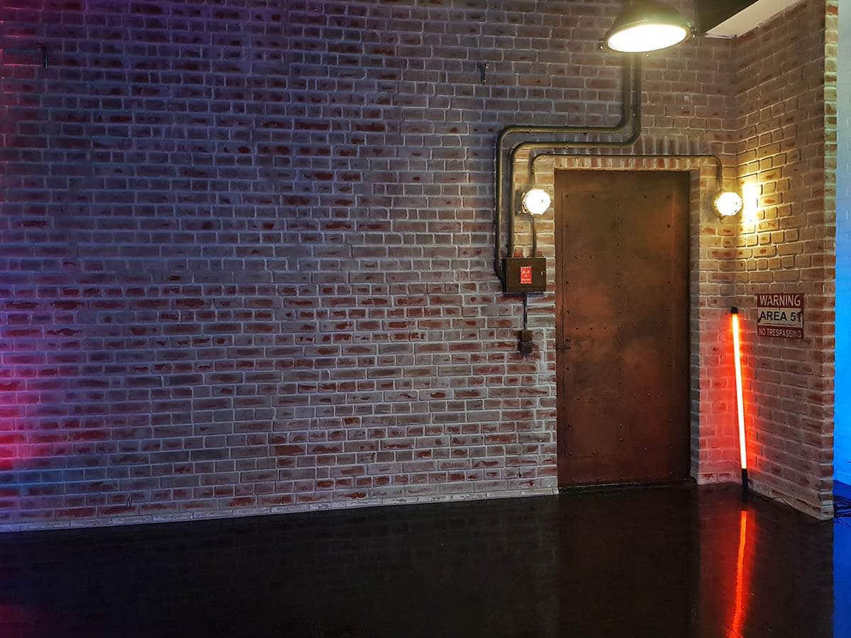 backsteinwand - Fotostudio günstig mieten